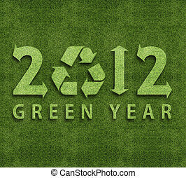 Happy new year 2012, ecology conceptual image for 2012 year