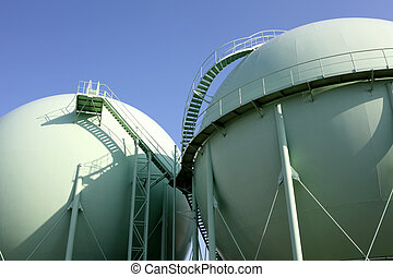 Gas tank in a industry plant