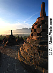 Borobudur Temple Stupa in Yogyakarta, Java, Indonesia.