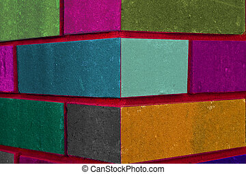 colourfull patern: fireplace corner - beautifully coloured,...