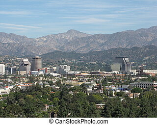 Strawberry Peak and Burbank - Strawberry Peak, San Gabriel...