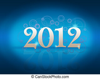 New Years card 2012 with  place for your text