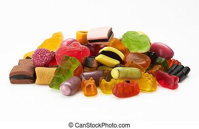 分類, 鮮艷, 糖果