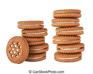 cookies isolated on white background