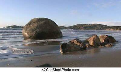 Moeraki Boulders 1 - The Moeraki Boulders are a group of...