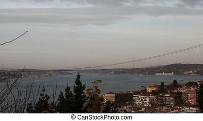 istanbul day and night time lapse - istanbul and bosphorus...