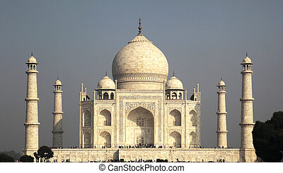 Taj Mahal Agra - the Taj Mahal is a white Marble mausoleum...