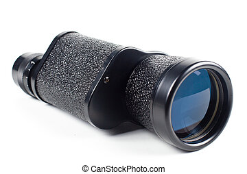 monocular - black monocular isolated on white background