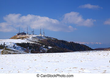 The Utsukushigahara plateau of winter in japan, Radio tower