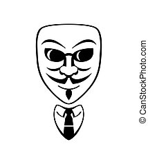 Anonymous symbol - Anonymous male mask and formal office...