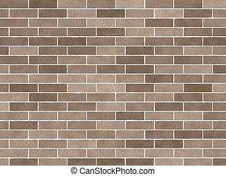 brick wall - illustration of a beige brick wall background