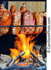 grillling pork hock 02