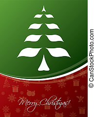 Red & green christmas greeting card design