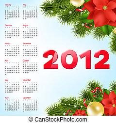Calendar 2012, Vector Illustration