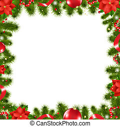 Xmas Border, Vector Illustration
