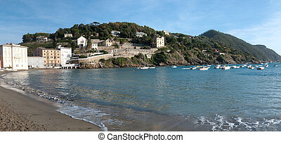 Bay of Silence in Sestri Levante - overview of the Bay of...