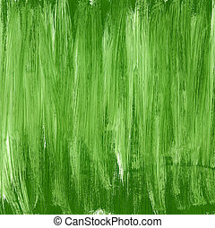 Green hand painted acrylic background, square shape
