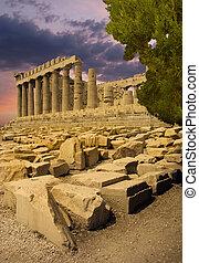 The Parthenon Greek temple