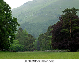 Cumbria landscape in the Lake District,England