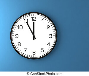 3d classic wall clock on a white background