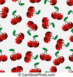 cherry - Seamless cherry background Vector illustration