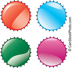 lids - Four lids Vector illustration