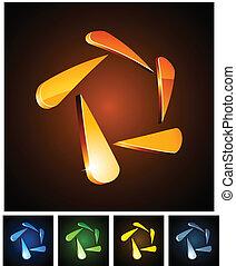 3d star emblems.