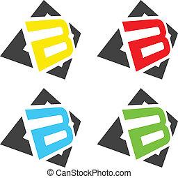 """B letters. - Set of """"B"""" color design elements."""