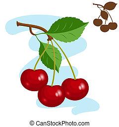 Three cherries.