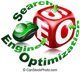 Cube SEO - Search engine optimizati - Red cube with the...