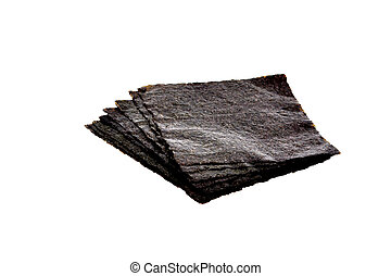 Sushi Nori - Sheets of nori isolated on white japanese...
