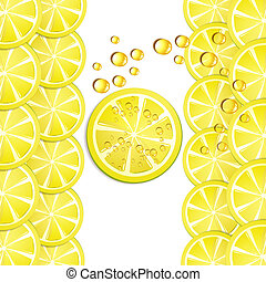 Lemon slices - Background with lemon slice