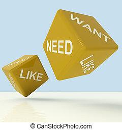 necesidad, necesidad, como, amarillo, dados, actuación,...