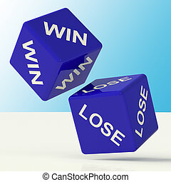 Win Lose Blue Dice