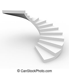 Spiral staircase Computer generated image