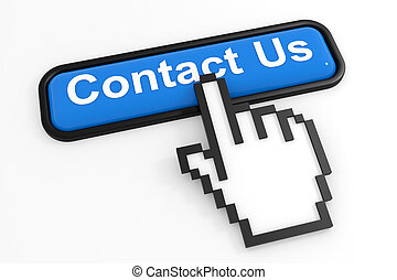 Blue button CONTACT US with hand cursor.