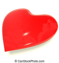 Red Heart Representing Love And Romance