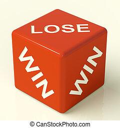 Lose Dice Represent Gambling And Losing
