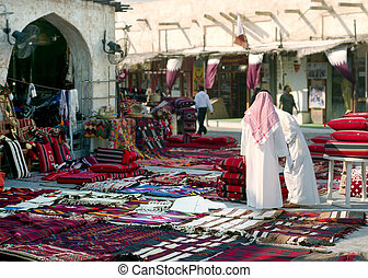 Morning in Souq Waqif, Qatar - A view of Souq Waqif, Qatar,...