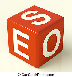 Seo Red Dice Representing Internet Optimization And...