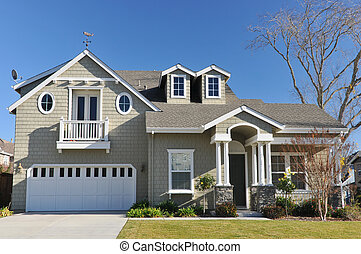 Single family house two storys with driveway - Single family...