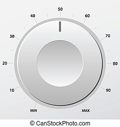 Volume knob - Grey volume knob. Vector illustration.