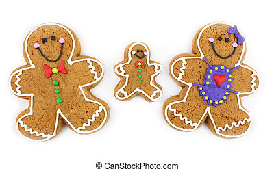 Gingerbread Cookie Family - Gingerbread cookie family...