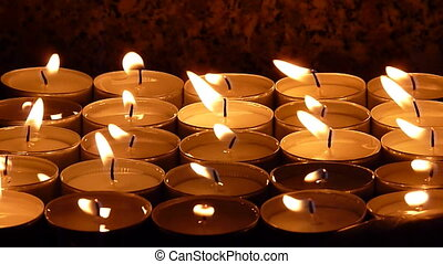 candles - light of candles in the dark