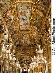 Paris Opera Garnier - Details of the Grand Foyer of the...