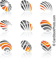 Set of Company symbols - Abstract company symbols Vector...