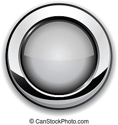 Gray button - Realistic gray button Vector illustration