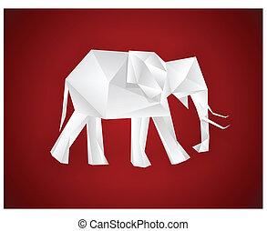 Origami elephant.