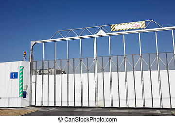 construction site gate - Industrial construction site gate