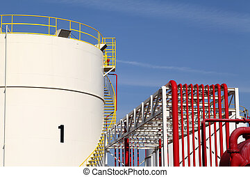 storage tank and pipeline - Storage tanks in a refinery...